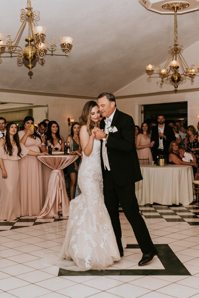 Megan Claire Photography | Arizona Wedding Photographer. Beautiful summer wedding in the desert at the Wright House in Mesa, Arizona. Bride and father of the bride first dance photos