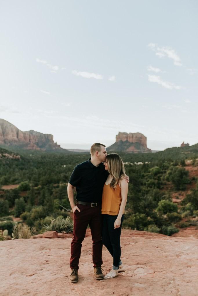 Megan Claire Photography | Phoenix Arizona Wedding and Engagement Photographer.  Sedona Arizona red rocks engagement session at sunrise @meganclairephoto