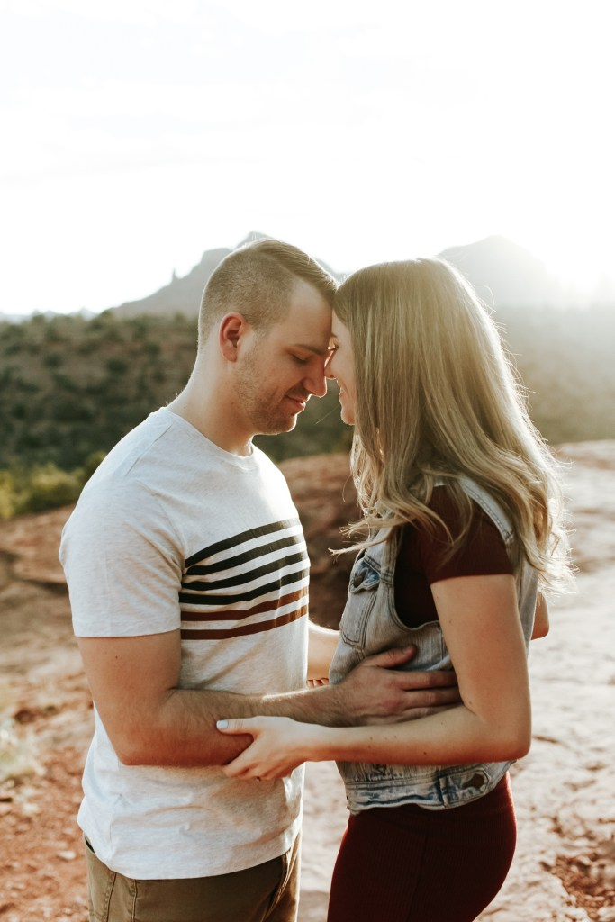 Megan Claire Photography | Phoenix Arizona Wedding and Engagement Photographer.  Sedona Arizona red rocks engagement session at sunrise @meganclairephoto