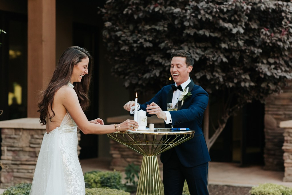 Megan Claire Photography | Arizona Wedding Photographer.  Elegant Scottsdale Backyard Wedding. Ceremony photos
