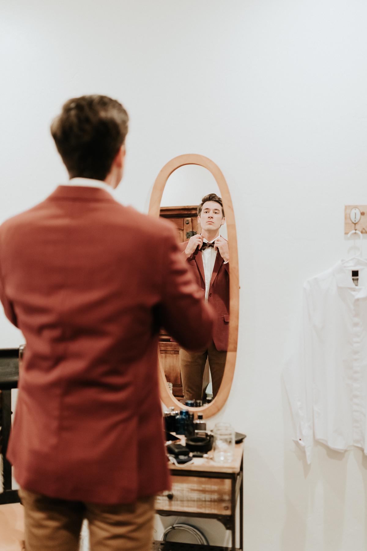 Megan Claire Photography | Arizona Wedding Photographer.  Rustic Glam Backyard Wedding. Getting ready photos