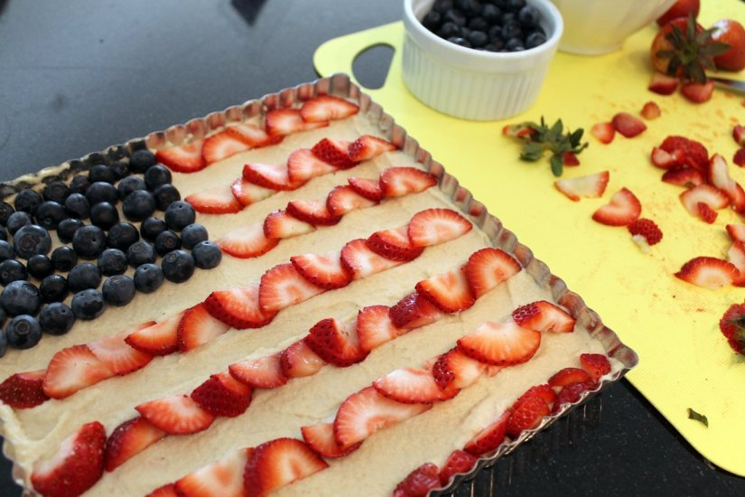 how to make an american flag cake