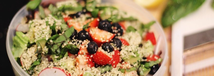 red white and blueberry salad