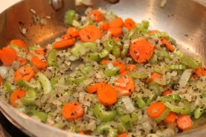 saute vegetables for sauce