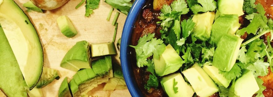 balanced beef and veggie chili