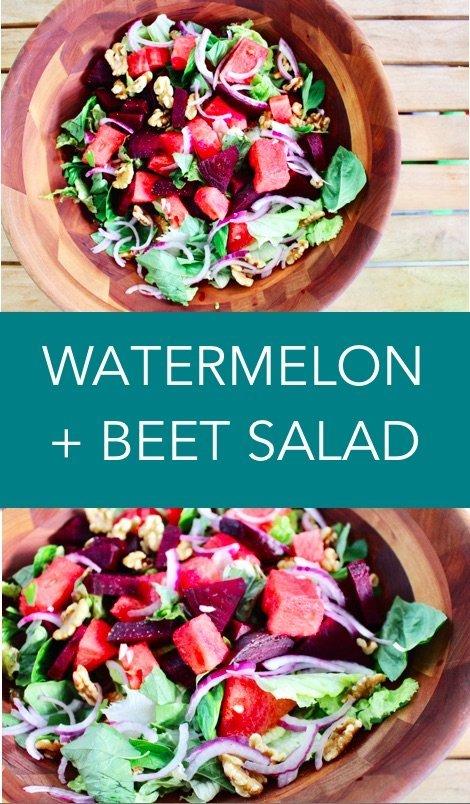 watermelon and beet salad