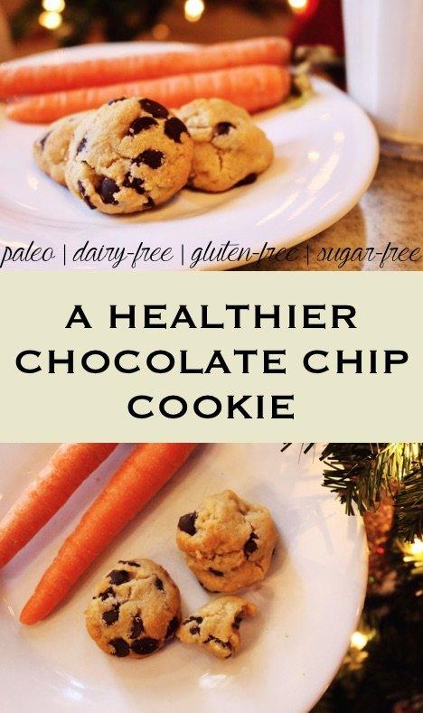 A healthier chocolate chip cookie - egg-free, gluten-free, sugar-free, paleo