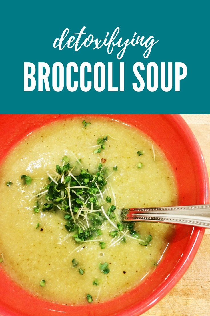 Detoxifying Broccoli Soup - meganadamsbrown.com - A blended broccoli soup that can help cleanse and detoxify your system.