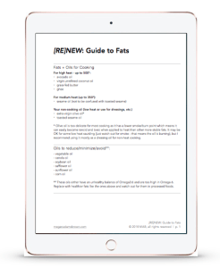 RENEW: fats guide