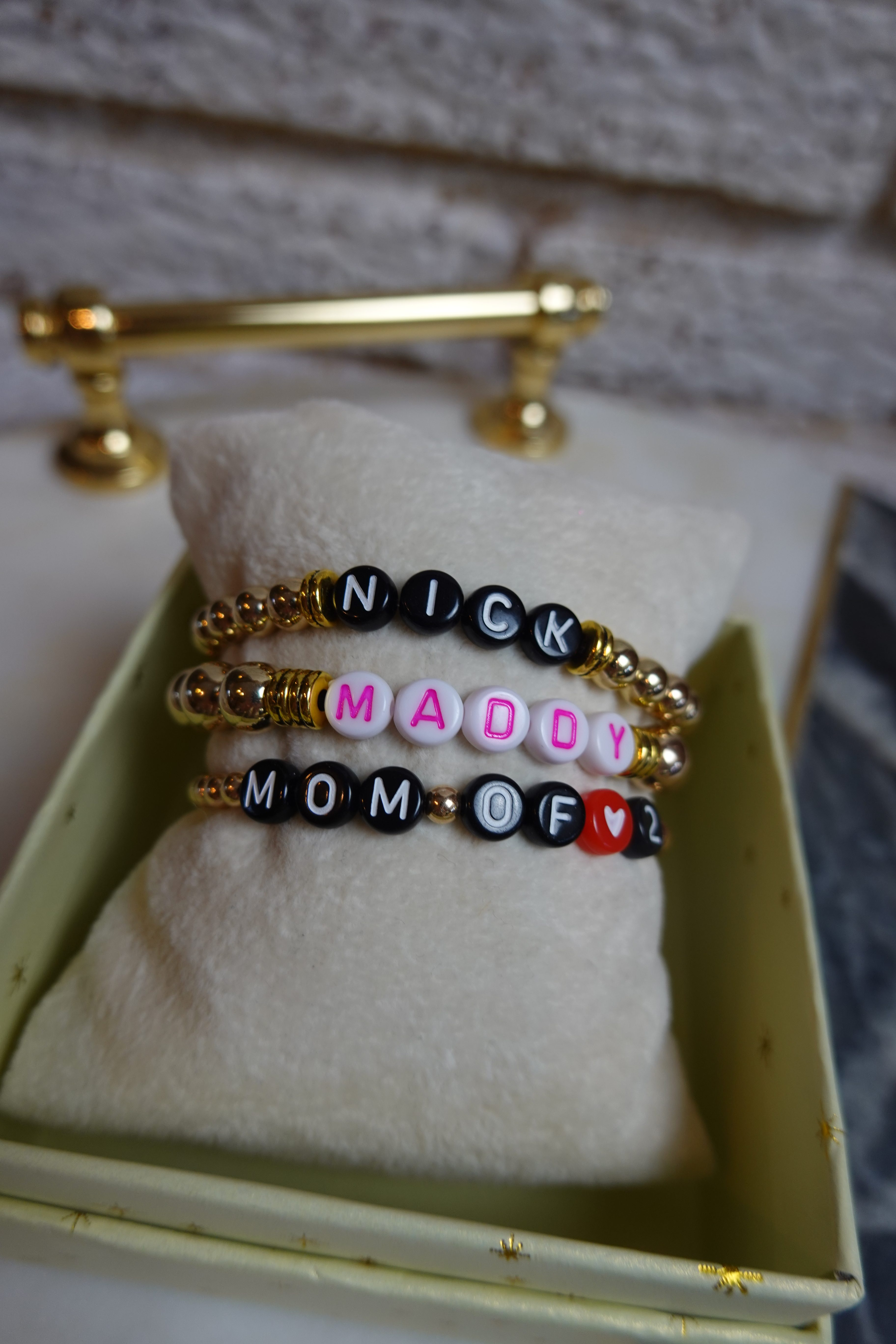 The Perfect Gift for Mom Beaded Mom Bracelets | Personalized with Kids Names!