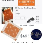 The H Blanket & H Pillow Biggest SALE of the Season! Hermes Dupes under $50.00 #LTKSale