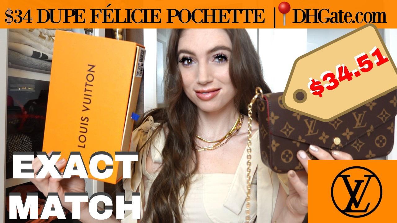 BEST MATCH YET $34 LOUIS VUITTON DESIGNER DUPE FÉLICIE POCHETTE MONOGRAM BAG     DHGate.com