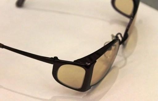 遮光眼鏡枠 入射光の遮蔽具合