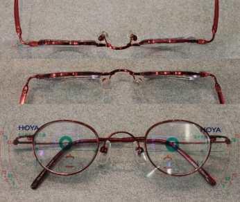 仕上がった眼鏡のレンズ厚