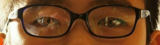 新規眼鏡装着状態