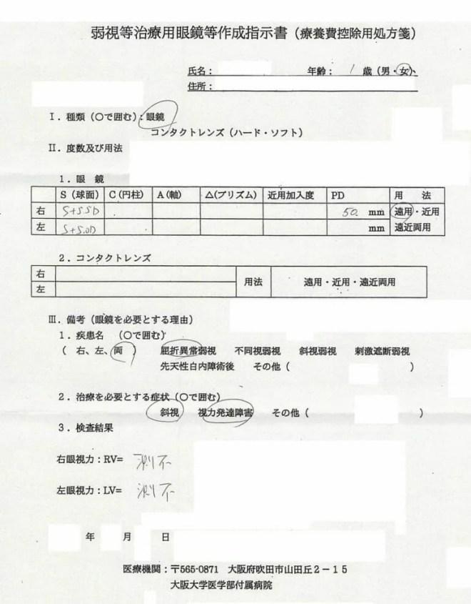 大阪大学 眼科処方