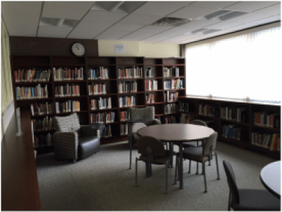 A room stands empty in the Resnick library