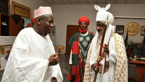 BREAKING: Ganduje, Emir Sanusi in dialogue meeting