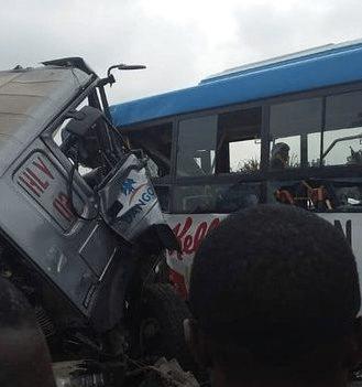 Dangote trailer crushes BRT bus in Lagos, many injured