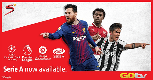 Premier League, Serie A, Others to Show on GOtv This Week