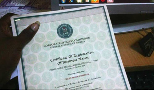 CAC to issue certificates of incorporation with tax numbers