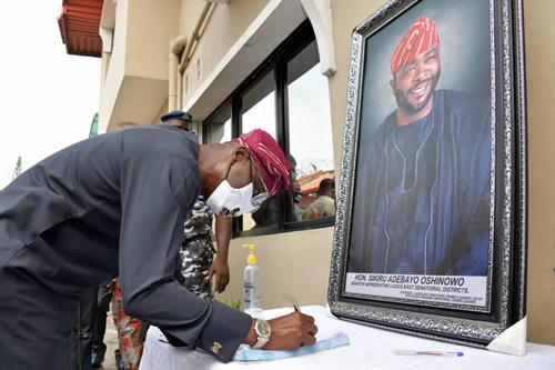 Sanwo-Olu, Lagos Executive visit Oshinowo family