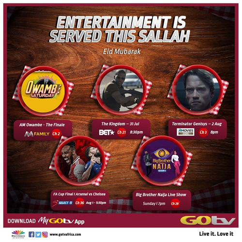 Looking to Be Entertained This Long Weekend? Get GOtv Max!