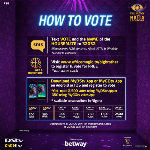 BBNaija: Vote and Lock-In your fave housemate
