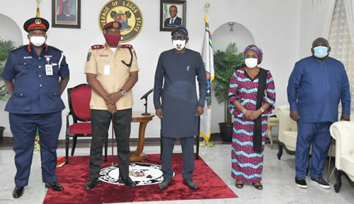 Sanwo-Olu receives FRSC Lagos Commander, says 'pains of Third Mainland Bridge's closure will be minimal'