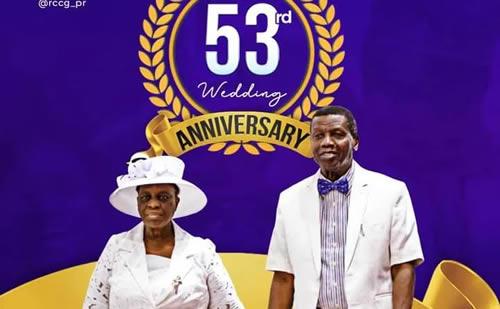 Pastor Adeboye, Wife Celebrate 53rd Wedding Anniversary