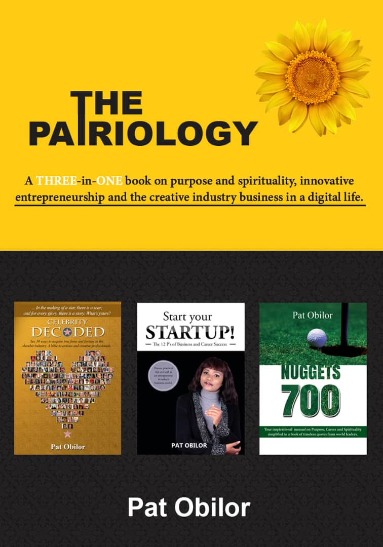 Pat Obilor sets to releasea THREE in ONEBook titled;The Patriologyas she connects with Enterprise leaders, Showbiz Professionals and global stars.