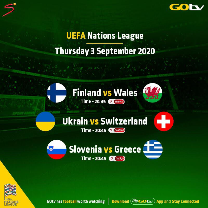 UEFA Nations League: Ukraine vs Switzerland, Others to Air This Weekend on GOtv