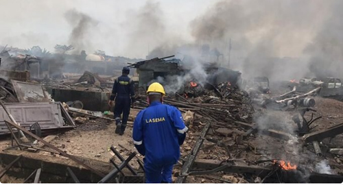 Many injured as tanker explodes in Lagos