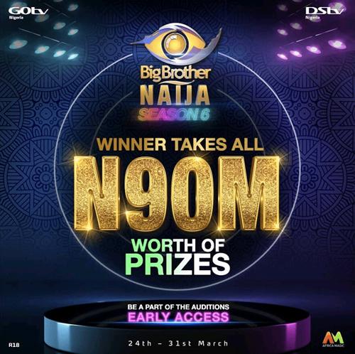 BBNaija organisers unveil N90m prize, begin auditions for Season 6