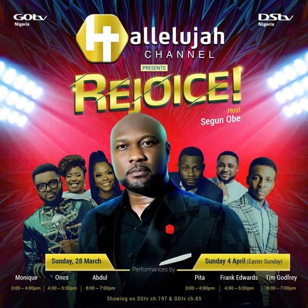 Segun Obe to Host New Gospel Show, REJOICE!, on Hallelujah Channel on DStv and GOtv