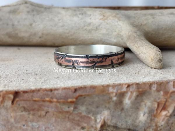 Sterling Silver and Copper Rustic Ring