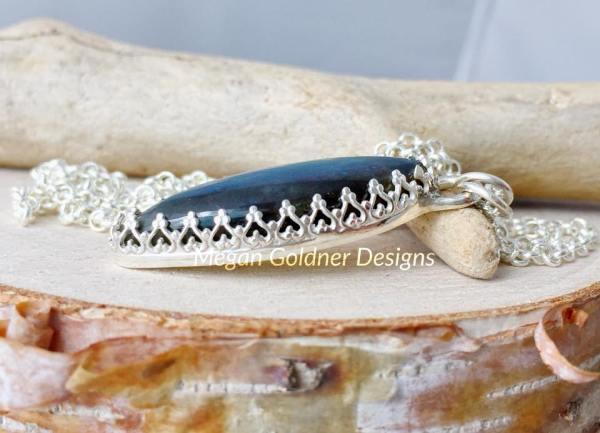 Sterling Silver OOAK Labradorite Necklace #3