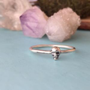 Sterling Silver Dainty Skull Ring