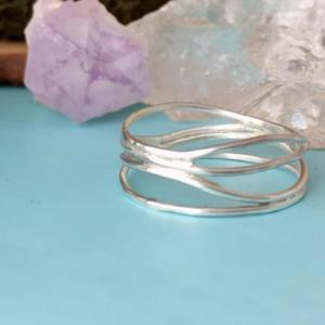 Sterling Silver Wavy Stacker Ring