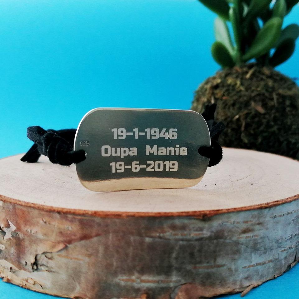 Sterling Silver Keepsake Imprint Tag Bracelet