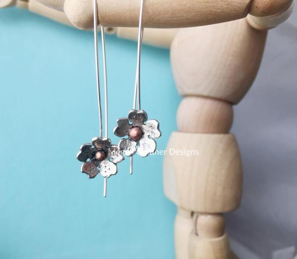 Sterling Silver Cherry Blossom Earrings
