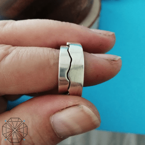 Sterling Silver Interlocking Mountain Couples Rings