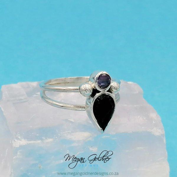 Sterling Silver Keepsake Goddess Birthstone Ring