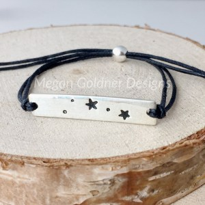 Sterling Silver Star Sign Cotton Bar Bracelet