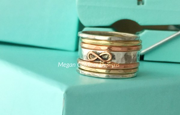 Sterling Silver Rustic Stack Rings