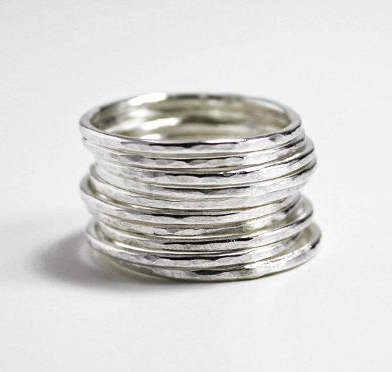 plain hammered rings