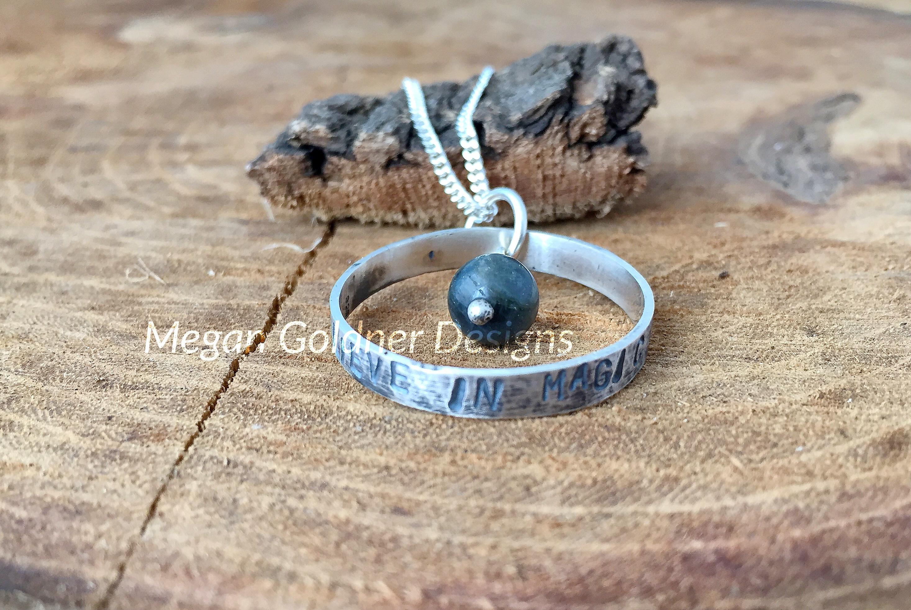 Sterling Silver Believe in Magic Pendant