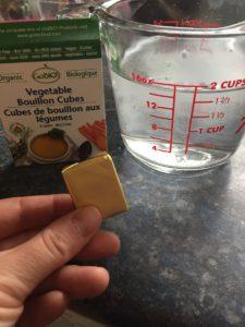 image of a veggie bullion cube for the easy black bean soup