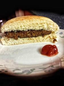 single patty of the smoked kona burger