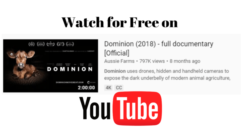 """Image of Dominion thumbnail on youtube. Writing says """"watch for free"""""""